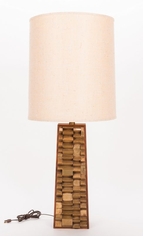 Lot 200: Mid Century Cubist or Brutalist Lamp