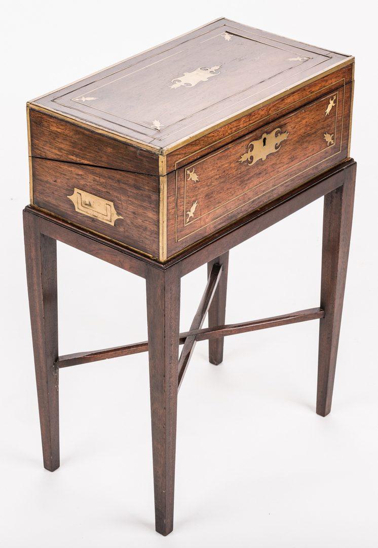 Lot 205: Mahogany Writing Box on Stand