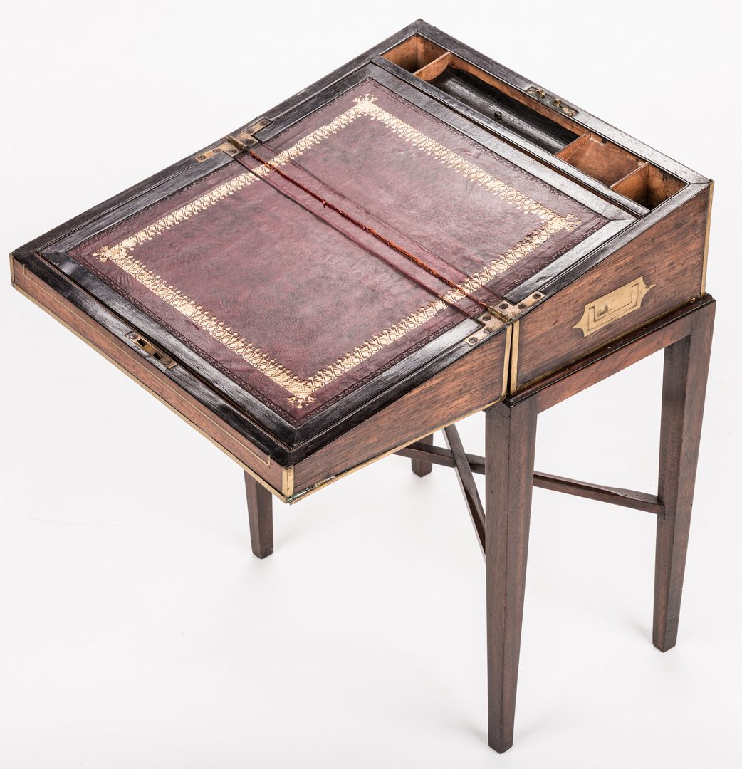 Lot 205: Mahogany Writing Box on Stand
