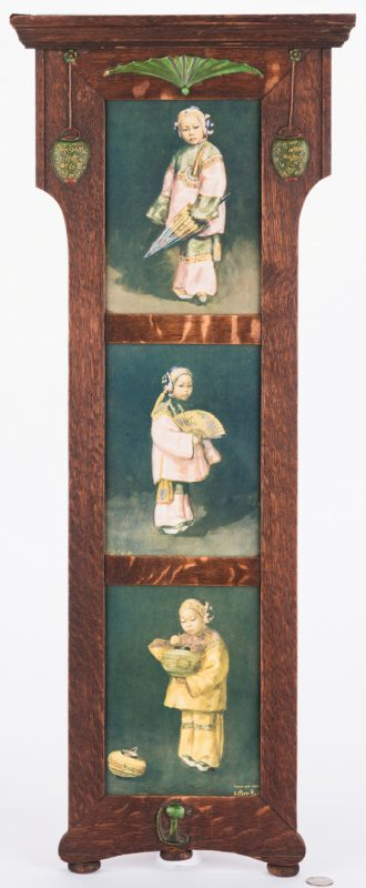 Lot 207: Arts & Crafts Frame with Asian prints