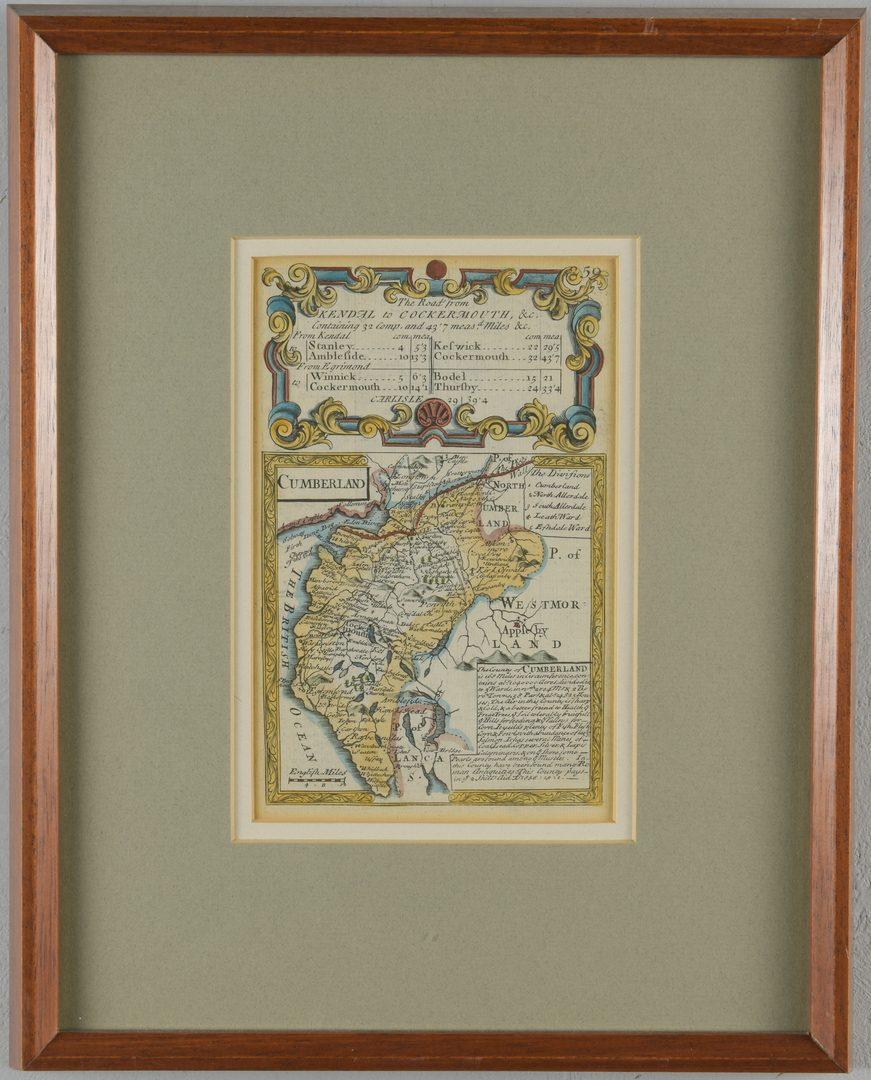 Lot 209: 2 18th C. European Maps, Bowen & Buchhandlung