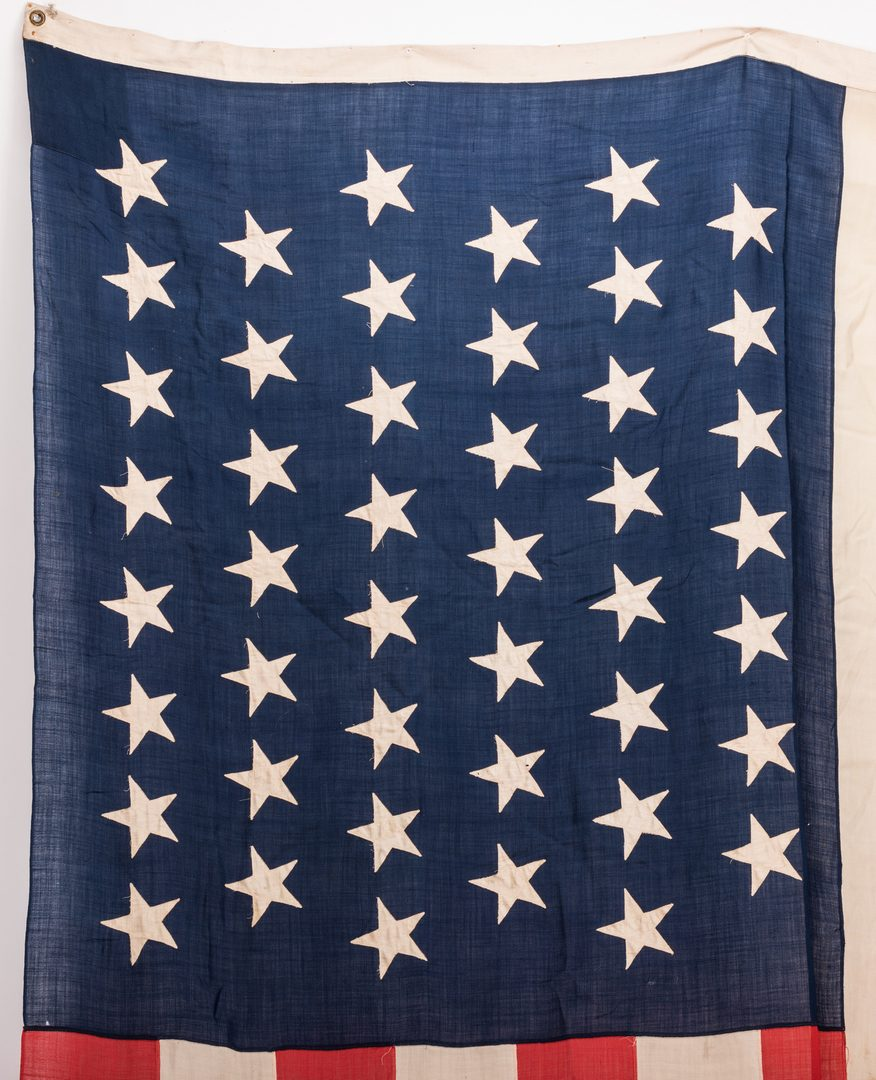 Lot 213: 45 Applied Star American Flag