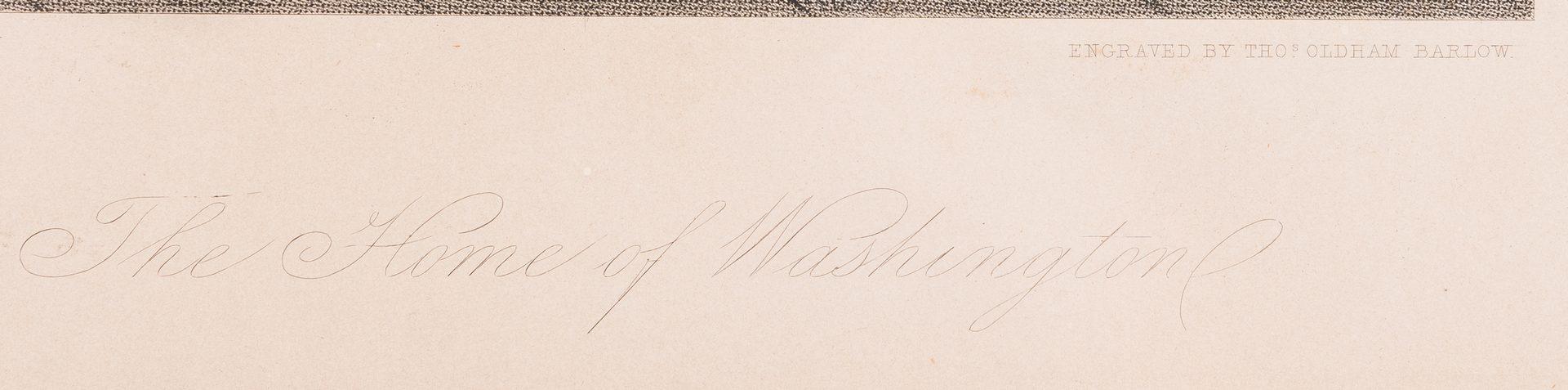 Lot 214: George Washington & Lafayette Colored Lithograph