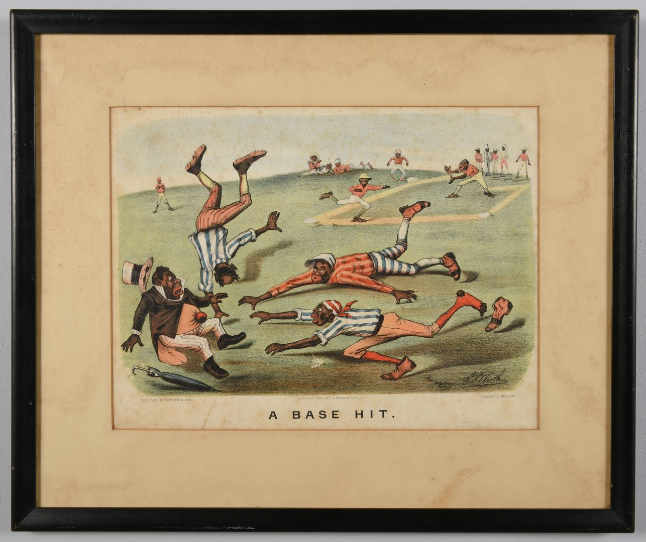 Lot 215: 2 Currier and Ives Black Americana Lithographs
