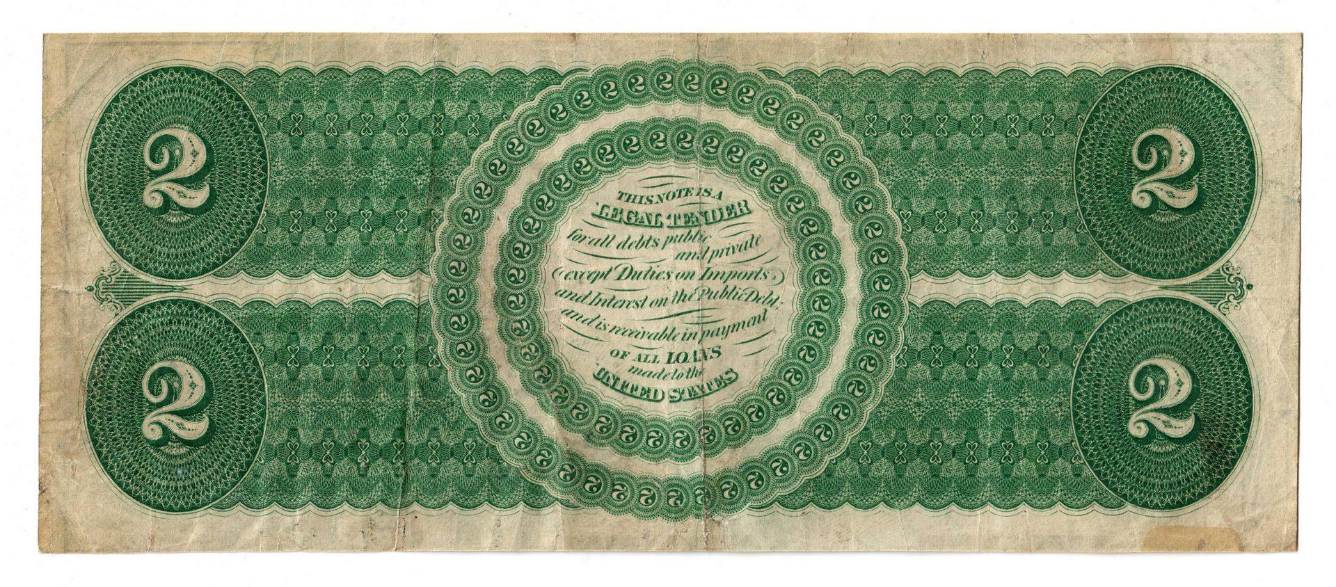 Lot 21: 1862 U.S. $2 Legal Tender Note