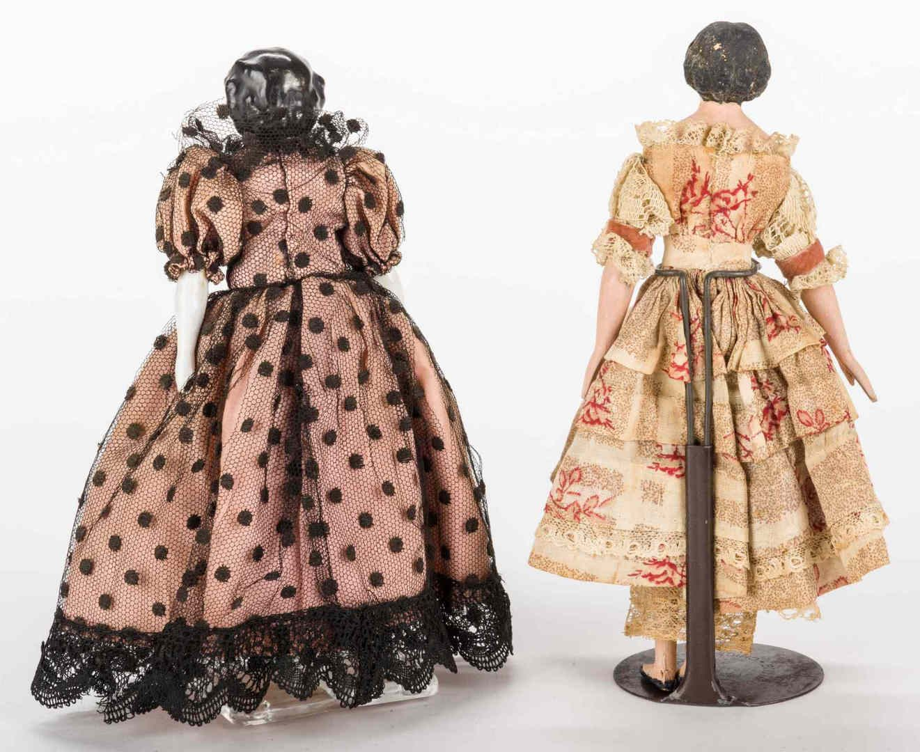 Lot 221: Dressmaker's Model Doll and Small China Doll