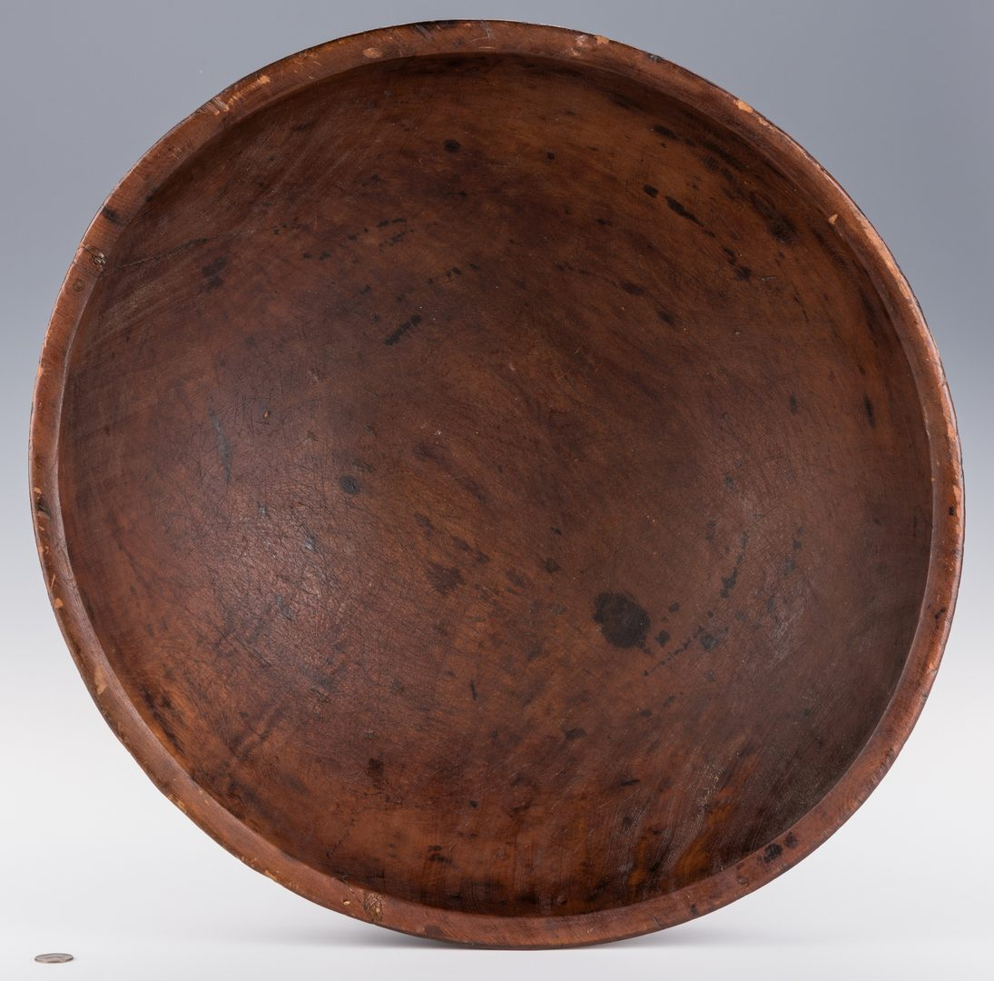 Lot 226: Large Turned Wooden Bowl, American