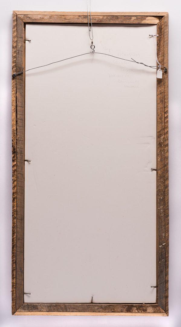 Lot 230: Ike Morgan Outsider/Folk Art Portrait