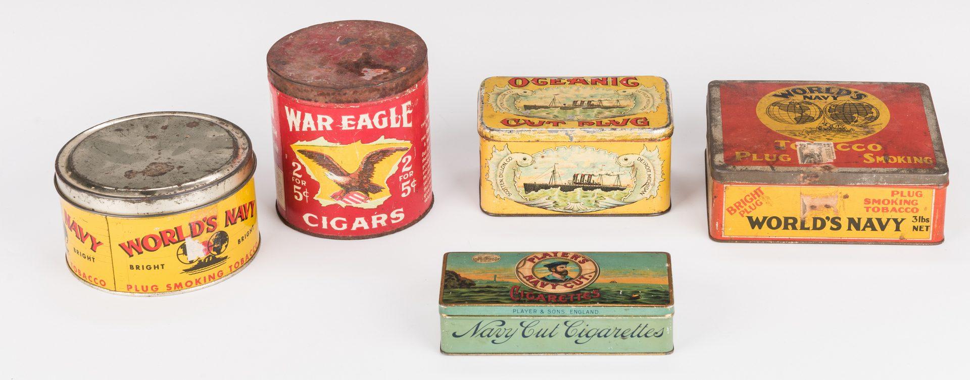 Lot 240: 17 Advertising Tobacco Tins
