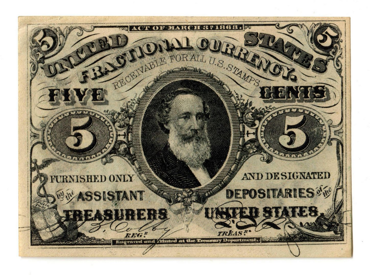 Lot 2: Group Of Five U.S. Fractional Banknotes