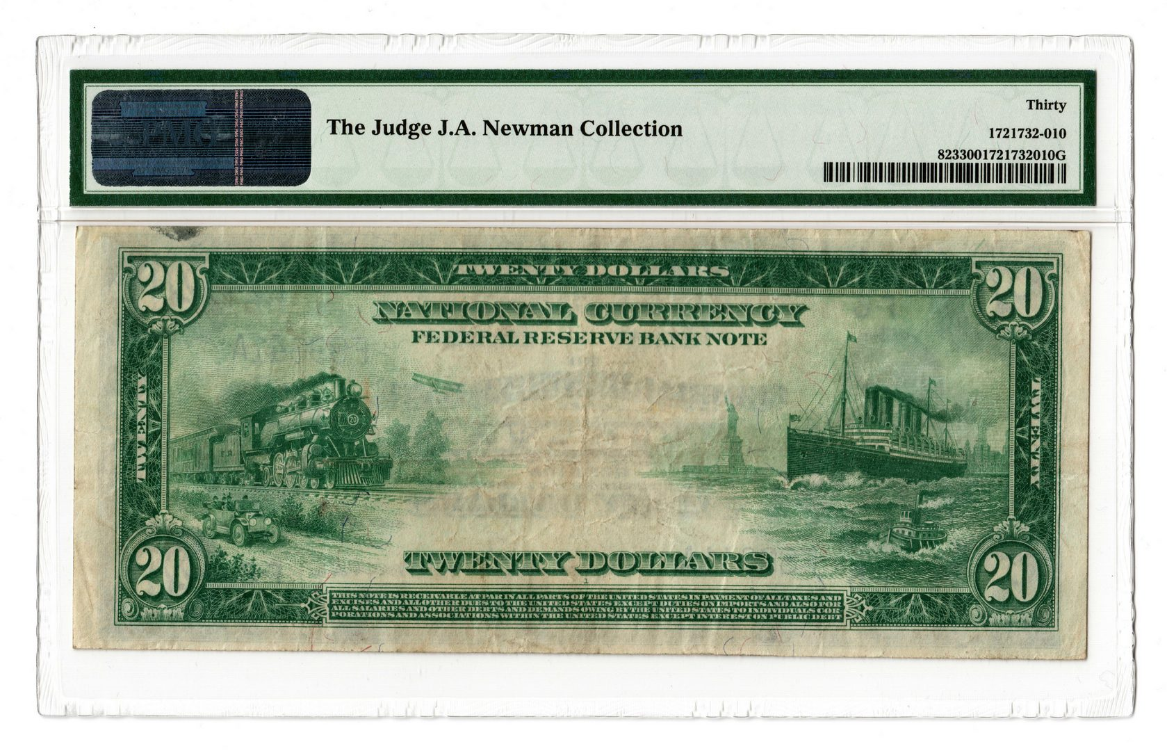 Lot 54: 1918 $20 Federal Reserve Bank of Atlanta Note