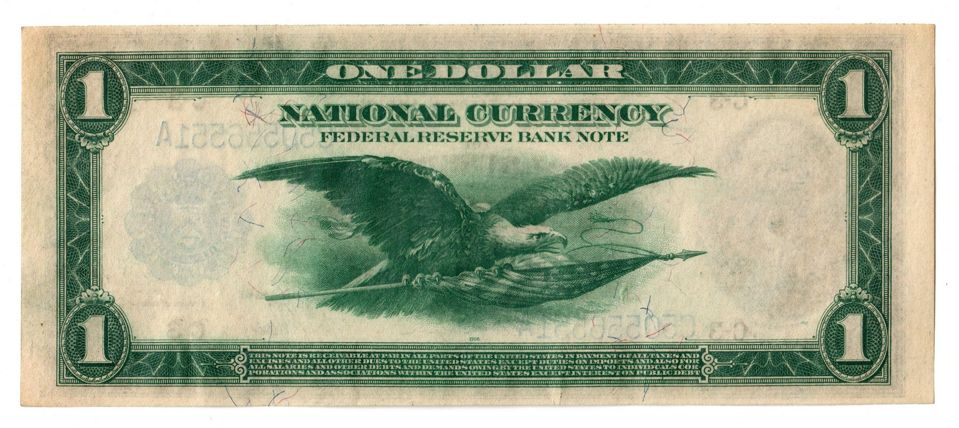 Lot 56: 1918 Federal Reserve Banknote $1 and $2 Pair