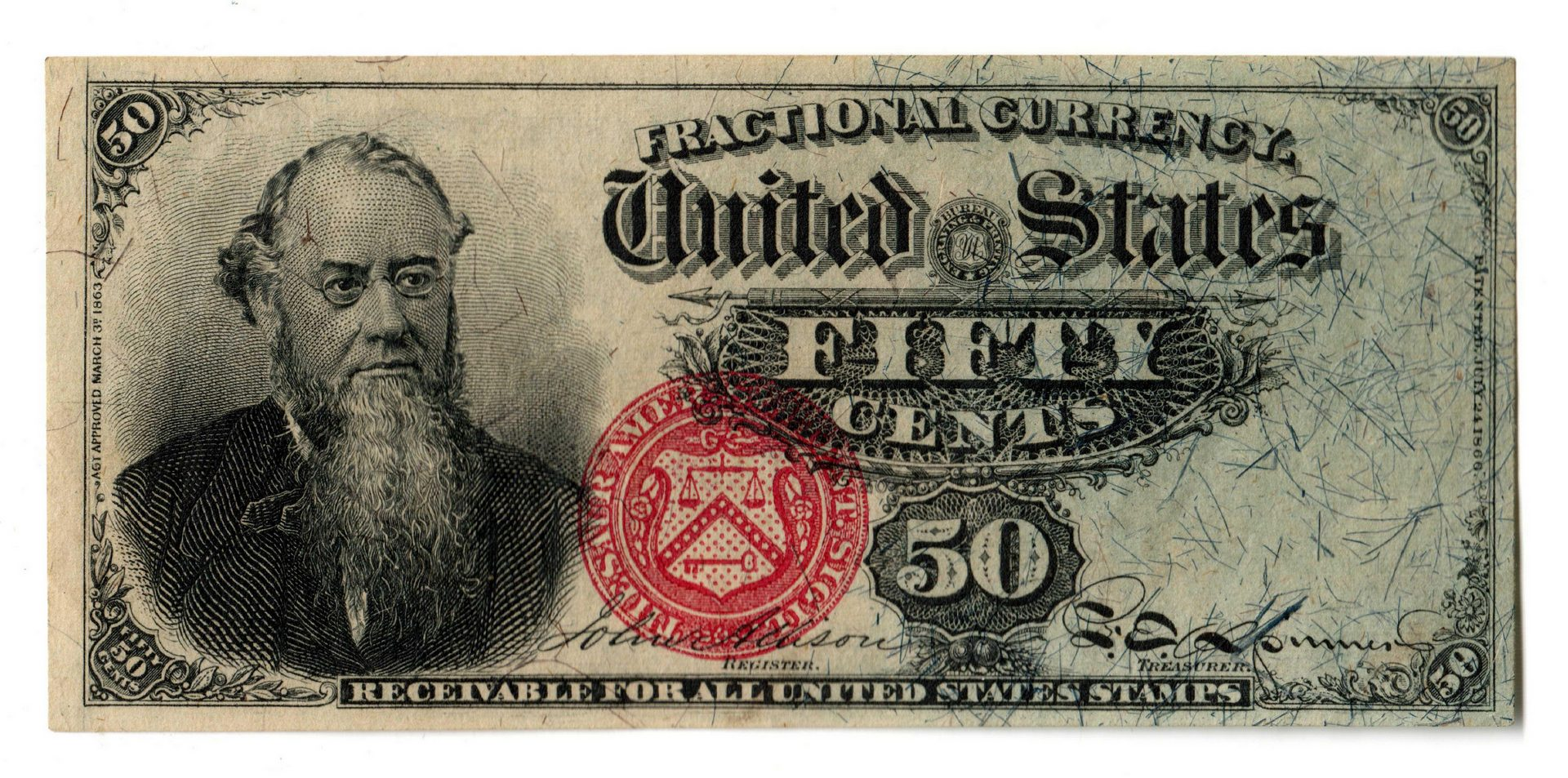 Lot 5: Fifty Cent U.S. Fractional Banknote, Fourth Issue