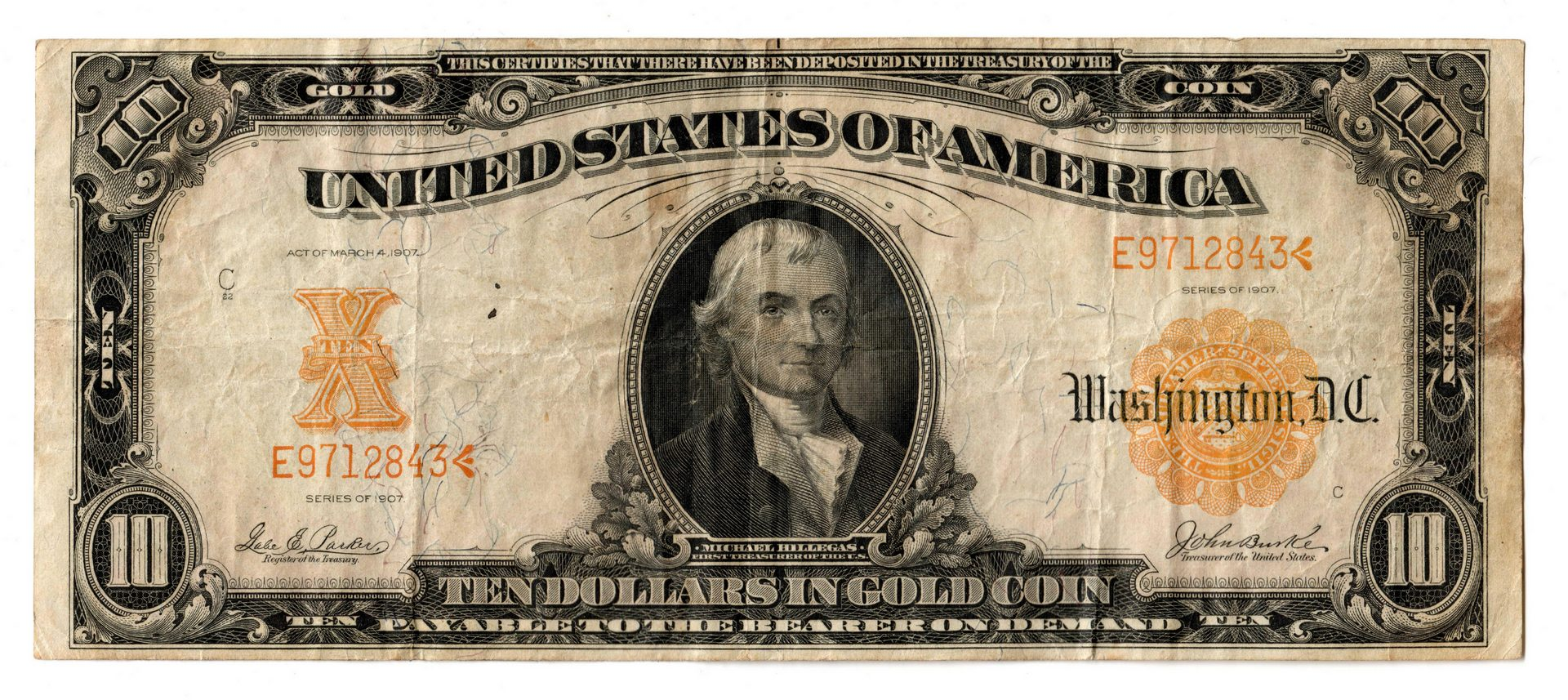 Lot 63: 1906 $20 & 1907 $10 Gold Certificates Pairing