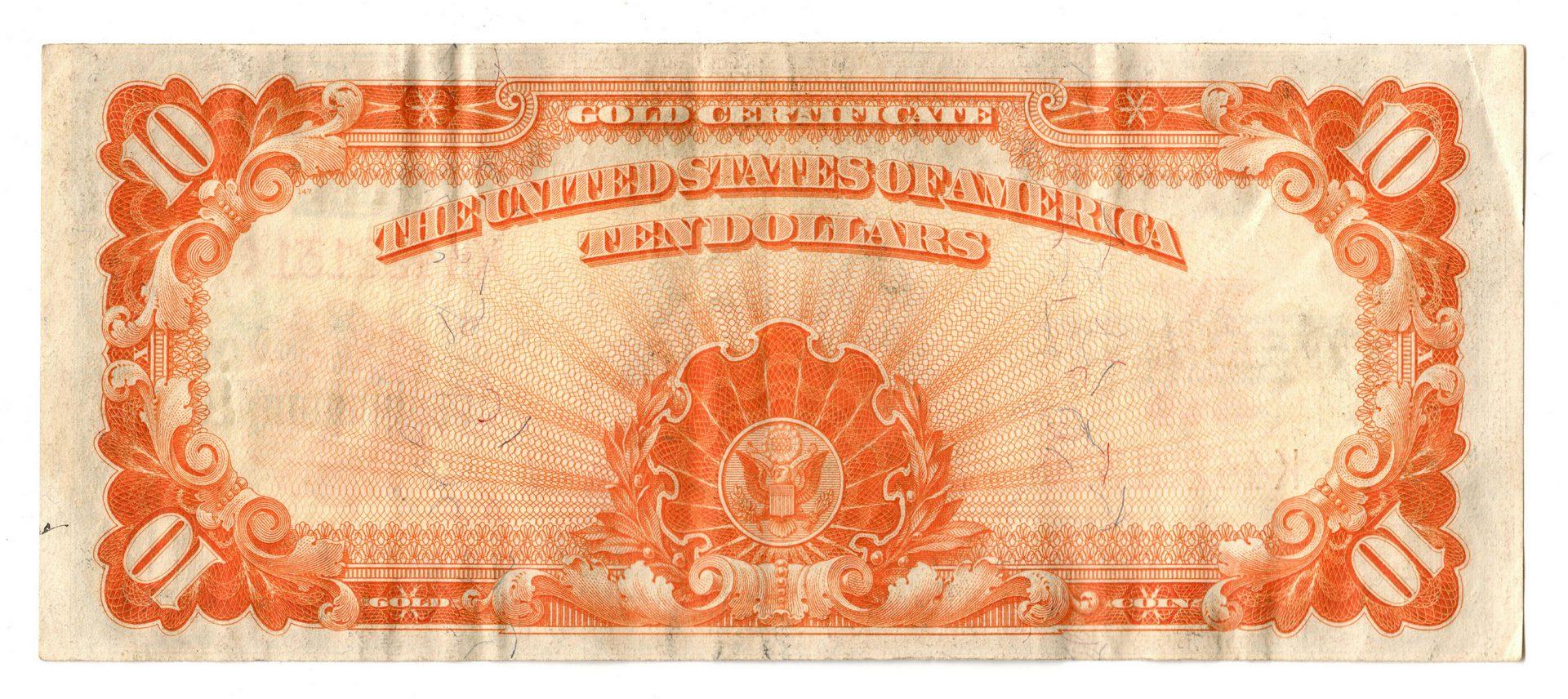 Lot 64: 1922 US $10 Gold Certificate Pair