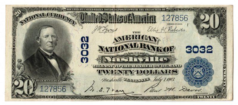 Lot 67: 1902 $20 American National Bank of Nashville Nati