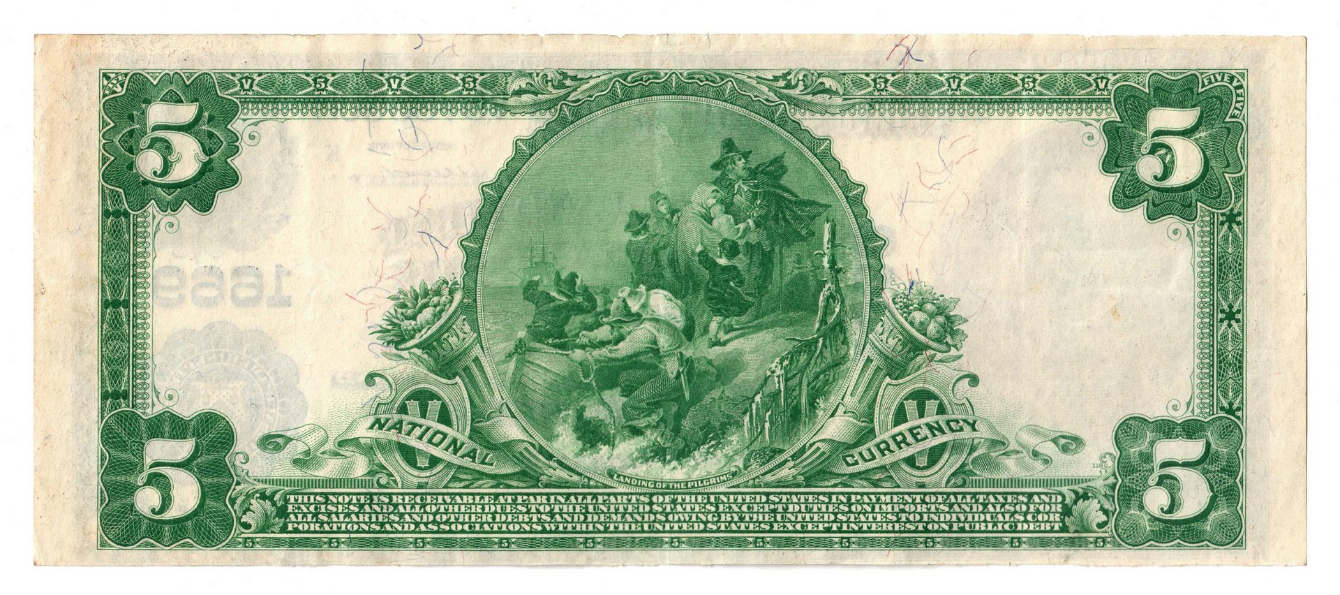 Lot 69: 1902 $5 Fourth and First National Bank, Nashville