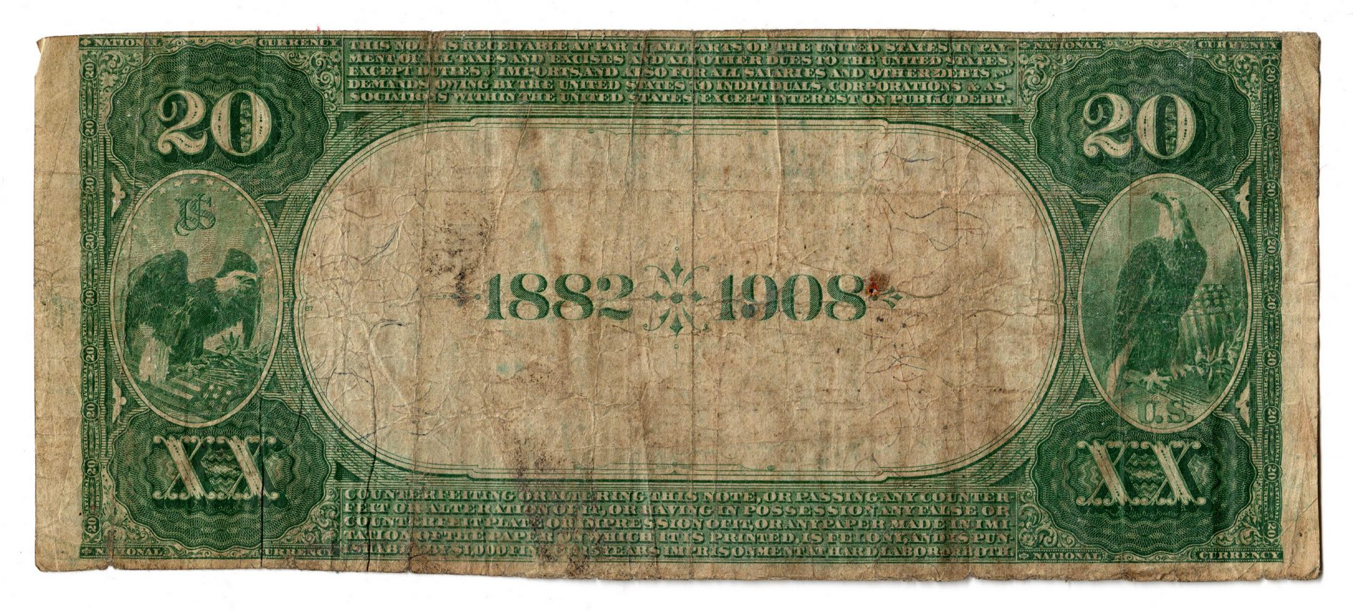Lot 72: 1882 $20 Farmers National Bank of Somerset Nationa