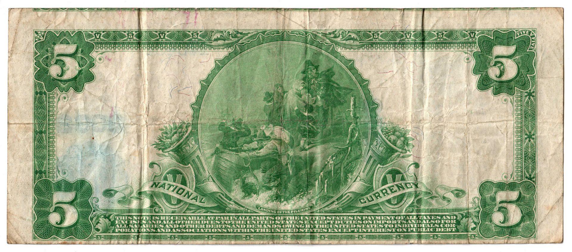 Lot 76: 1902 $5 American National Bank of Nashville, Miscu