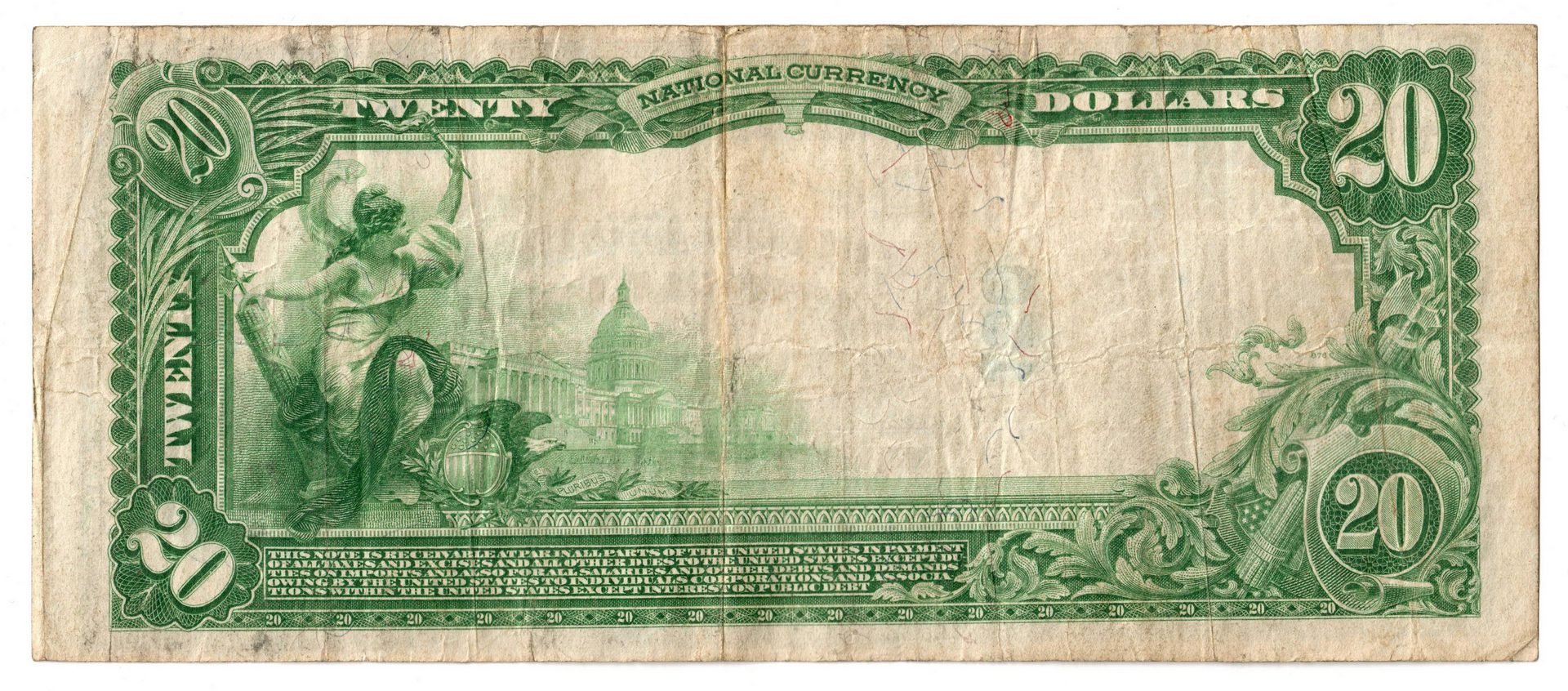 Lot 77: 1902 $20 Fourth and First National Bank, Nashville