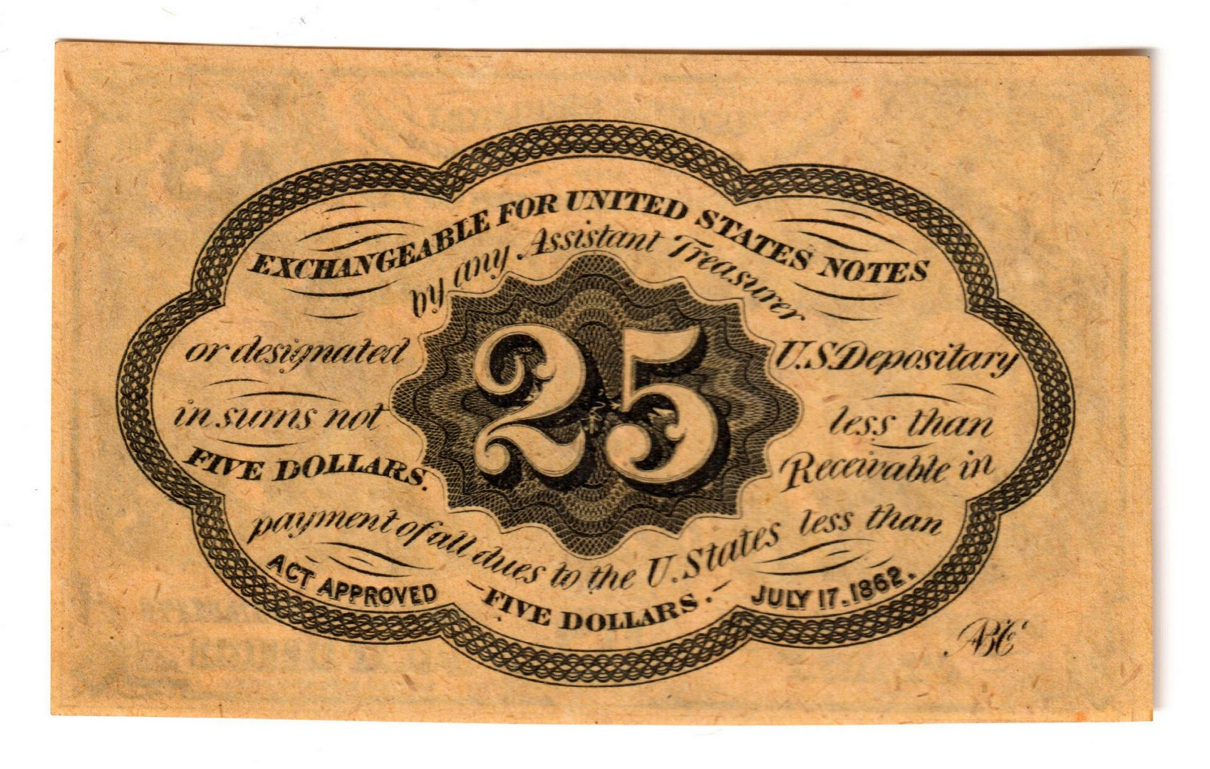 Lot 7: Pair Of 25 Cent U.S. Fractional Banknotes