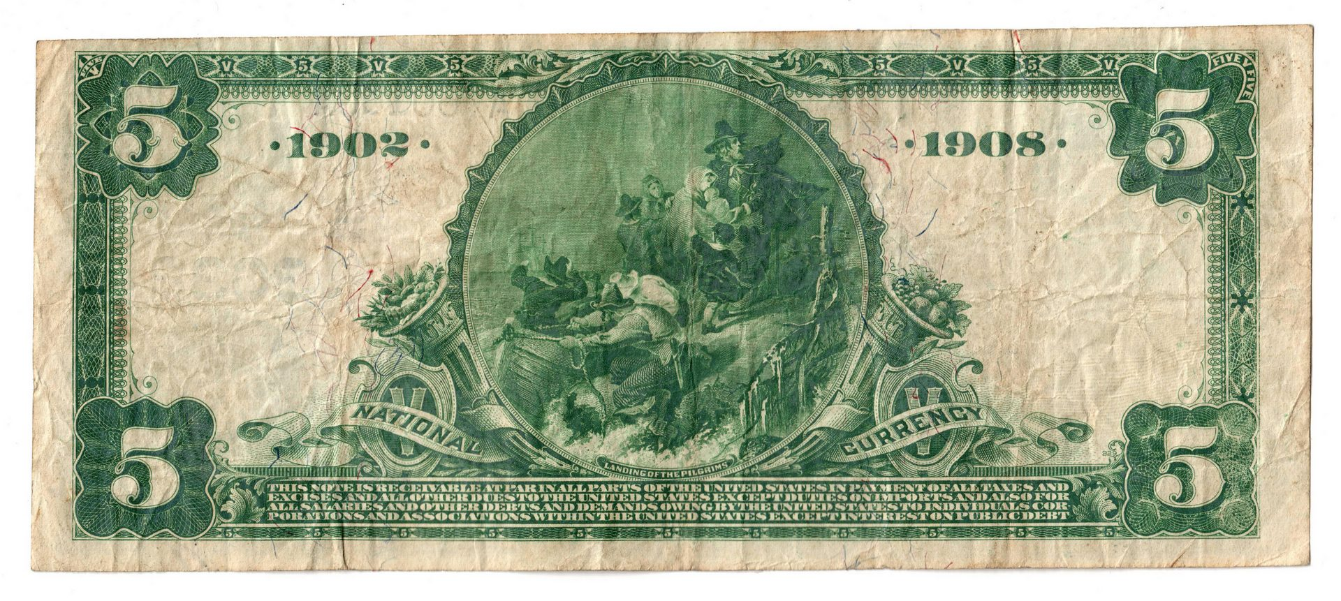 Lot 81: Two 1902 TN $5 Blue Seal National Currency Notes