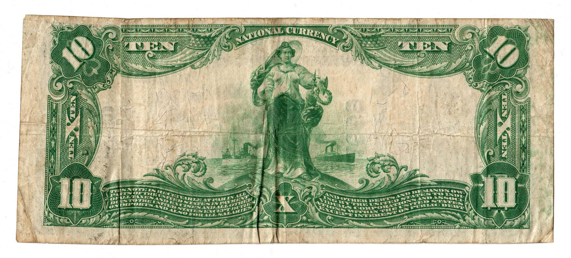 Lot 88: Two TN $10 Blue Seal National Currency Notes