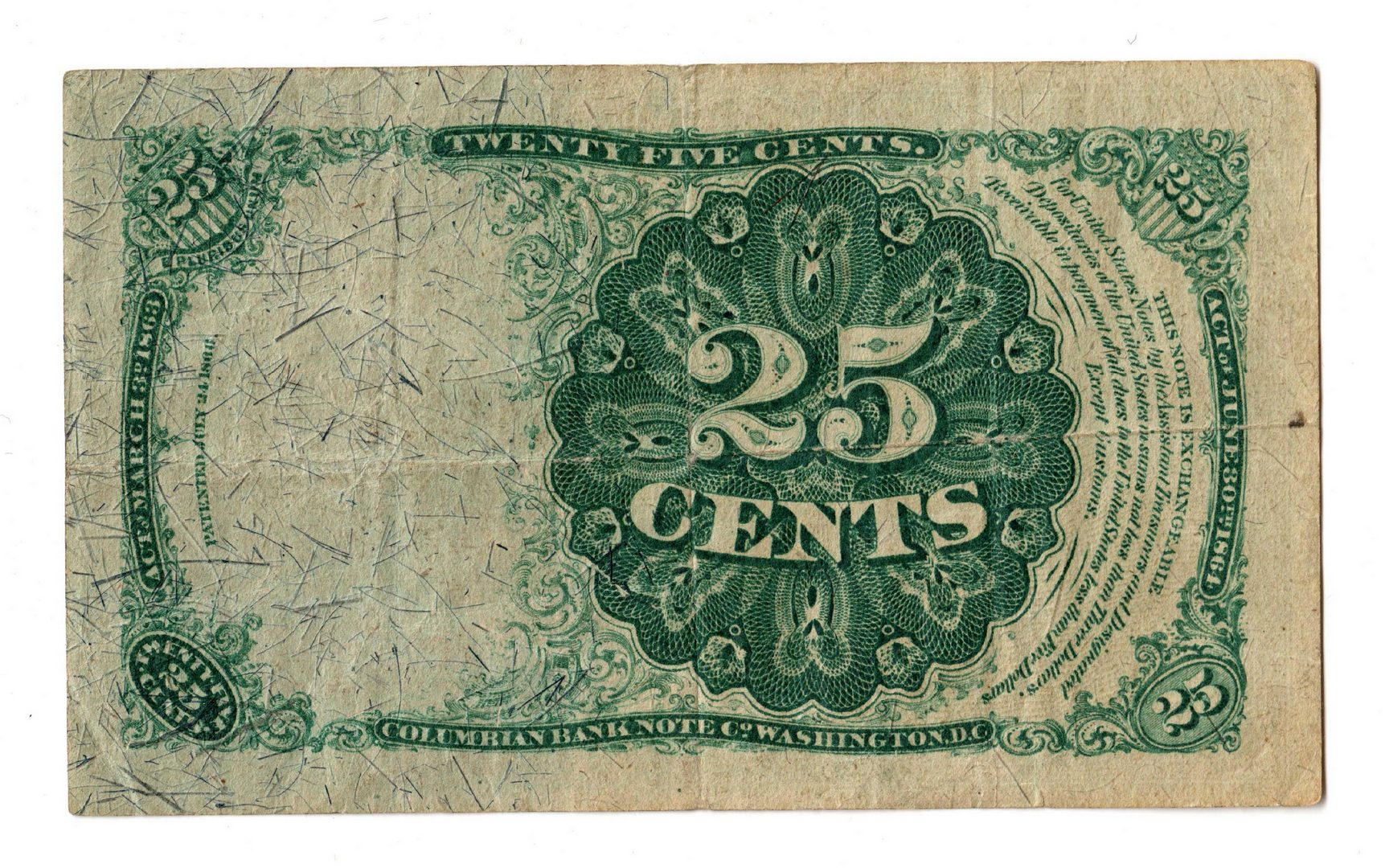 Lot 9: Group Of Three U.S. Fractional Banknotes