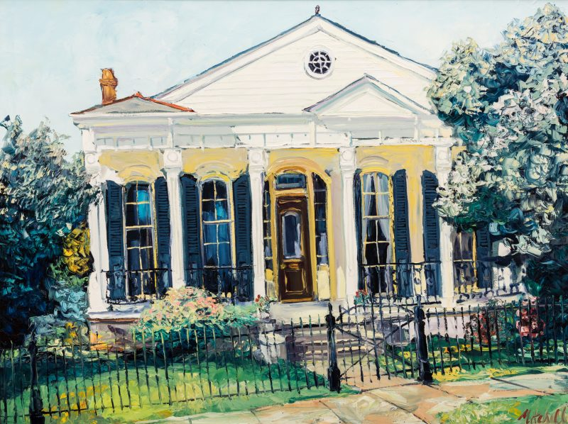 "Lot 101: James Michalopoulos Oil, ""Pristine at Prytania"""
