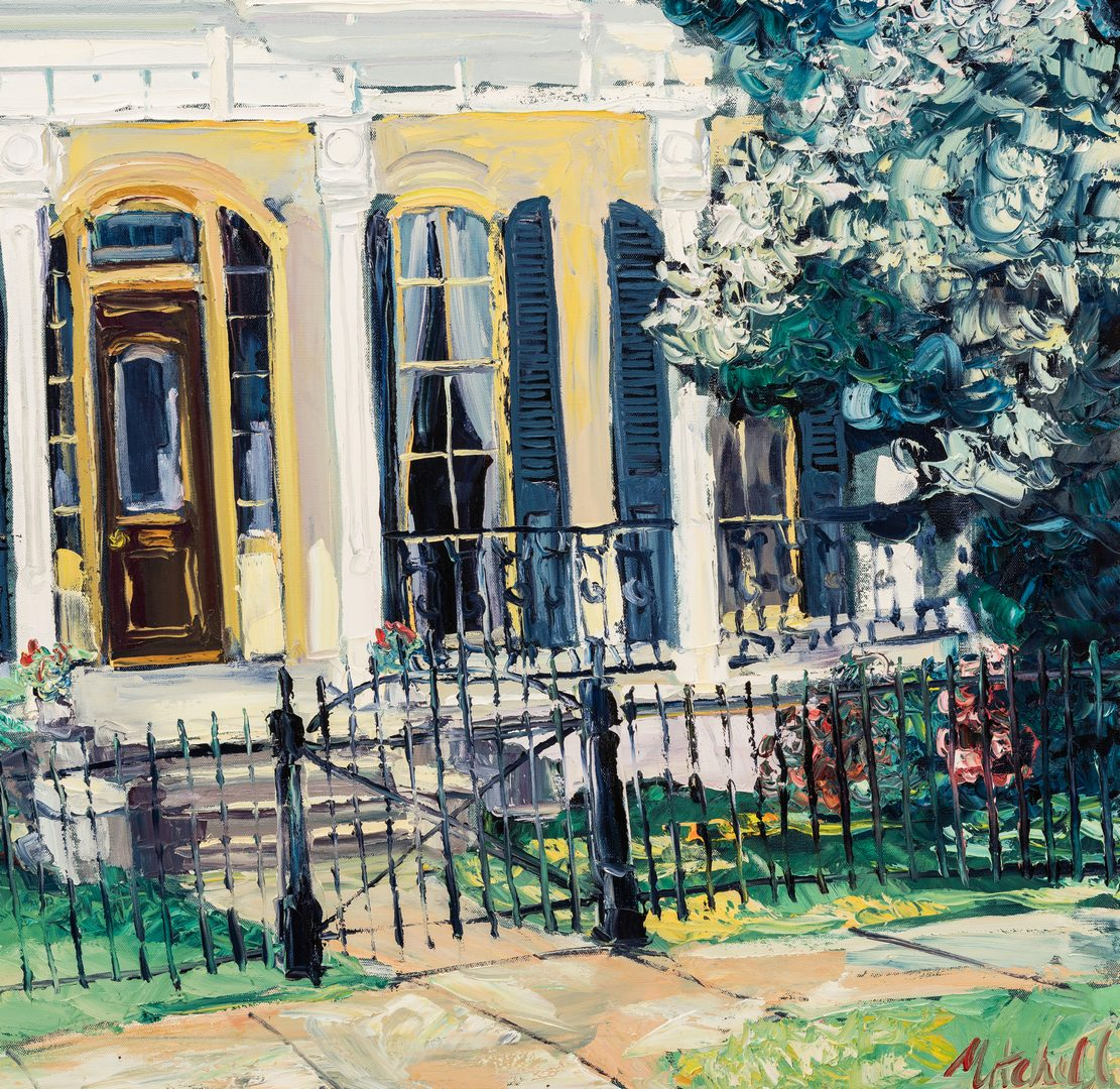 """Lot 101: James Michalopoulos Oil, """"Pristine at Prytania"""""""