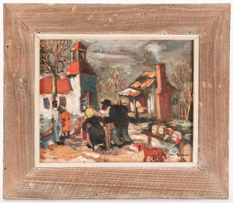Lot 104: Dixie Durham Folk Art painting