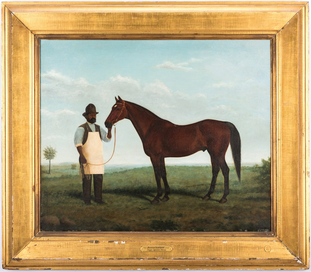 Lot 109: H. Kittredge, Portrait of Bonnie Scotland & Robert Green, Belle Meade