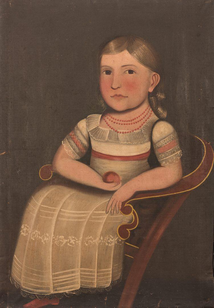 Lot 112: Folk Art Portrait of a Child, TN History
