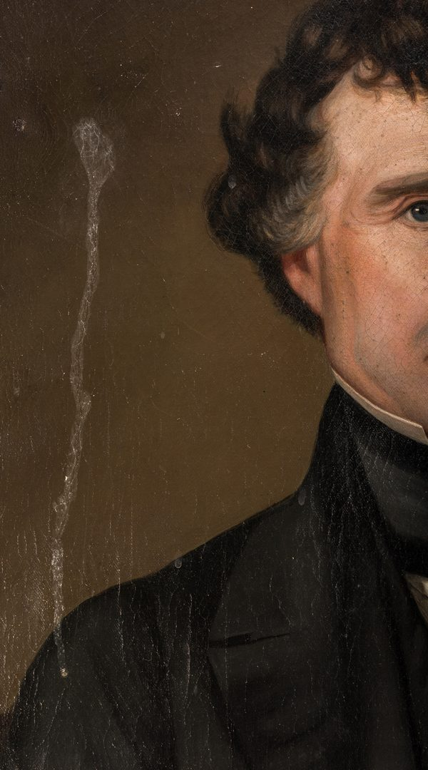 Lot 113: Samuel Shaver Portrait of a Gentleman, poss. Franklin Pierce