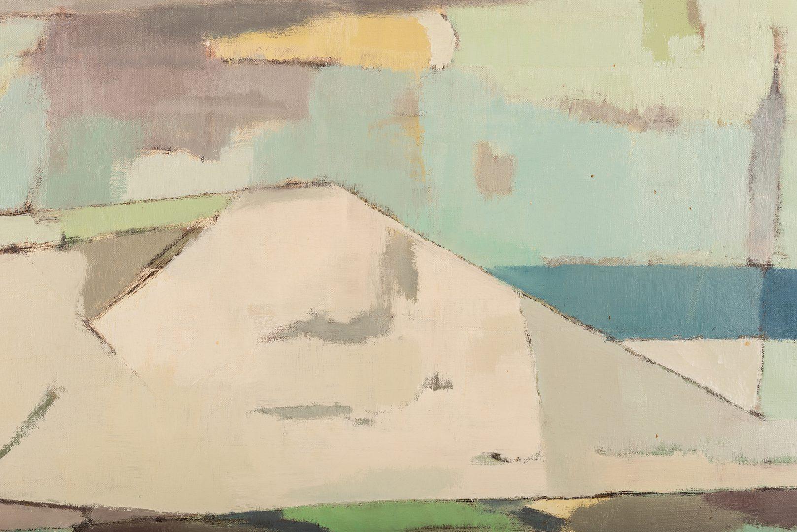 Lot 116: George Cress O/B, Cubist Beach Scene