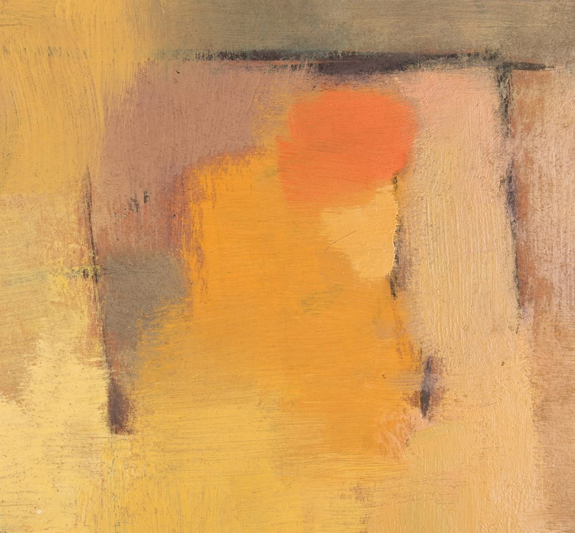 Lot 117: George Cress, O/B, Abstract Cityscape