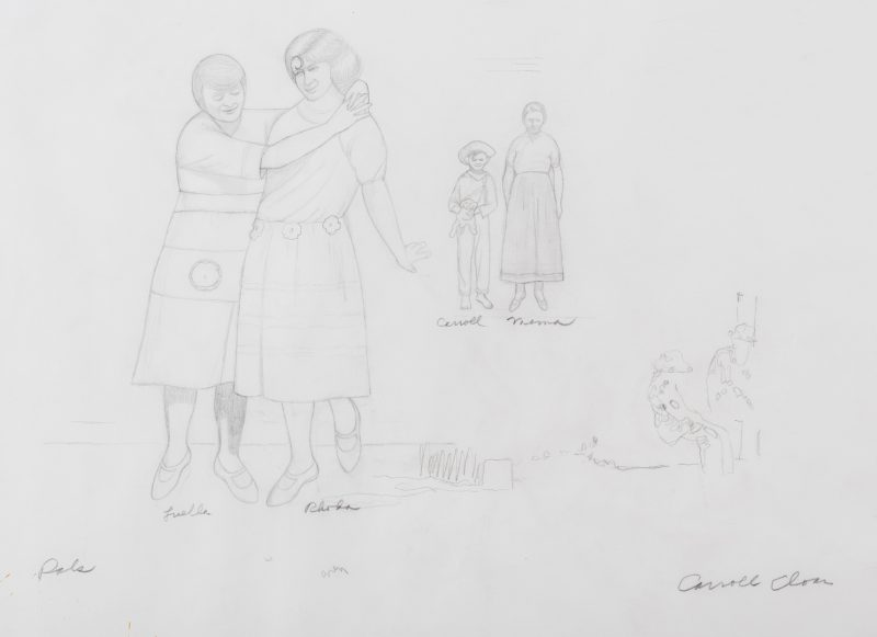 "Lot 119: Caroll Cloar Drawing, ""Pals"""