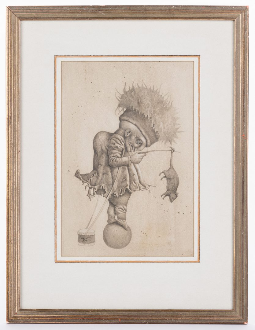 Lot 121: Werner Wildner Framed Drawing