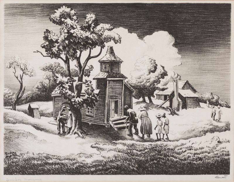 Lot 124: Thomas H. Benton Lithograph, Sunday Morning