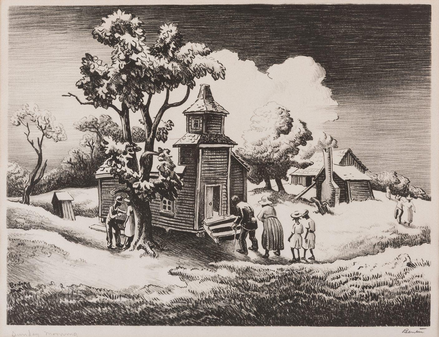 Lot 124: Thomas H. Benton Lithograph, Sunday Morning