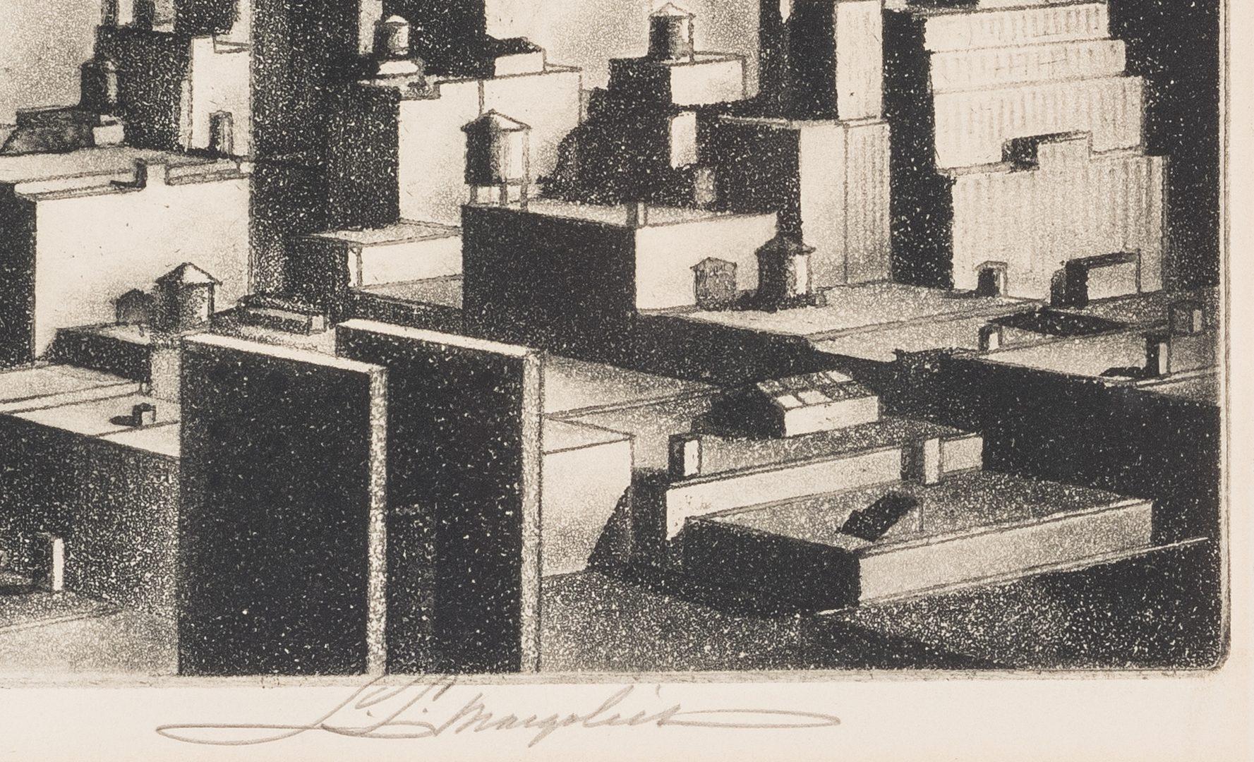 Lot 125: Samuel L. Margolies Industrial Etching, Builders of Babylon