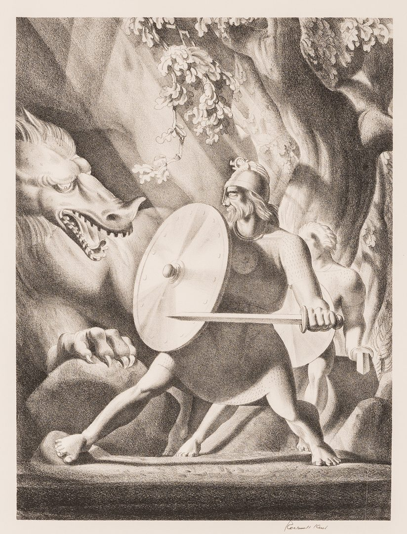 Lot 126: Rockwell Kent Lithograph, Beowulf