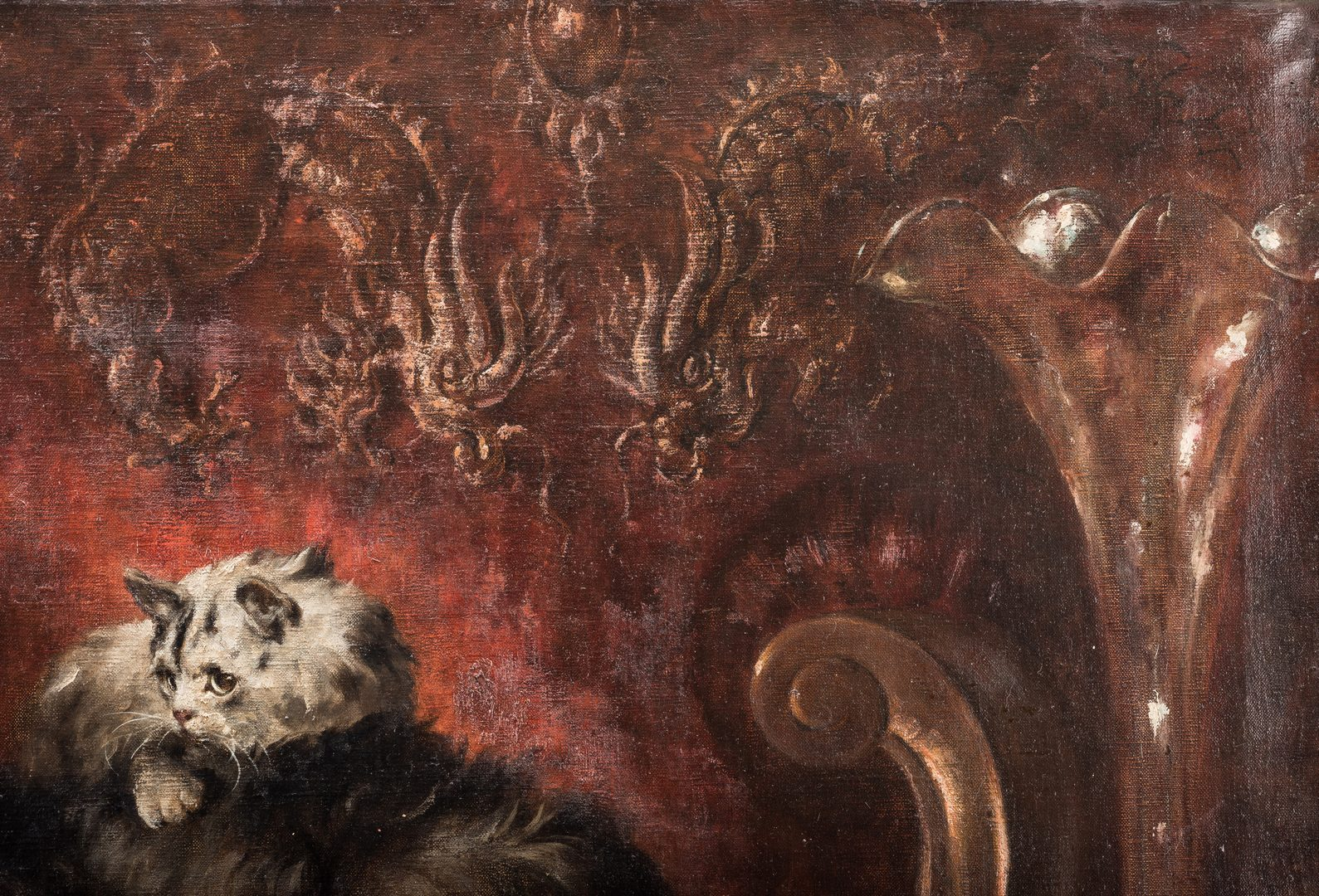 Lot 127: Carl Kahler, O/C, Painting of Cats