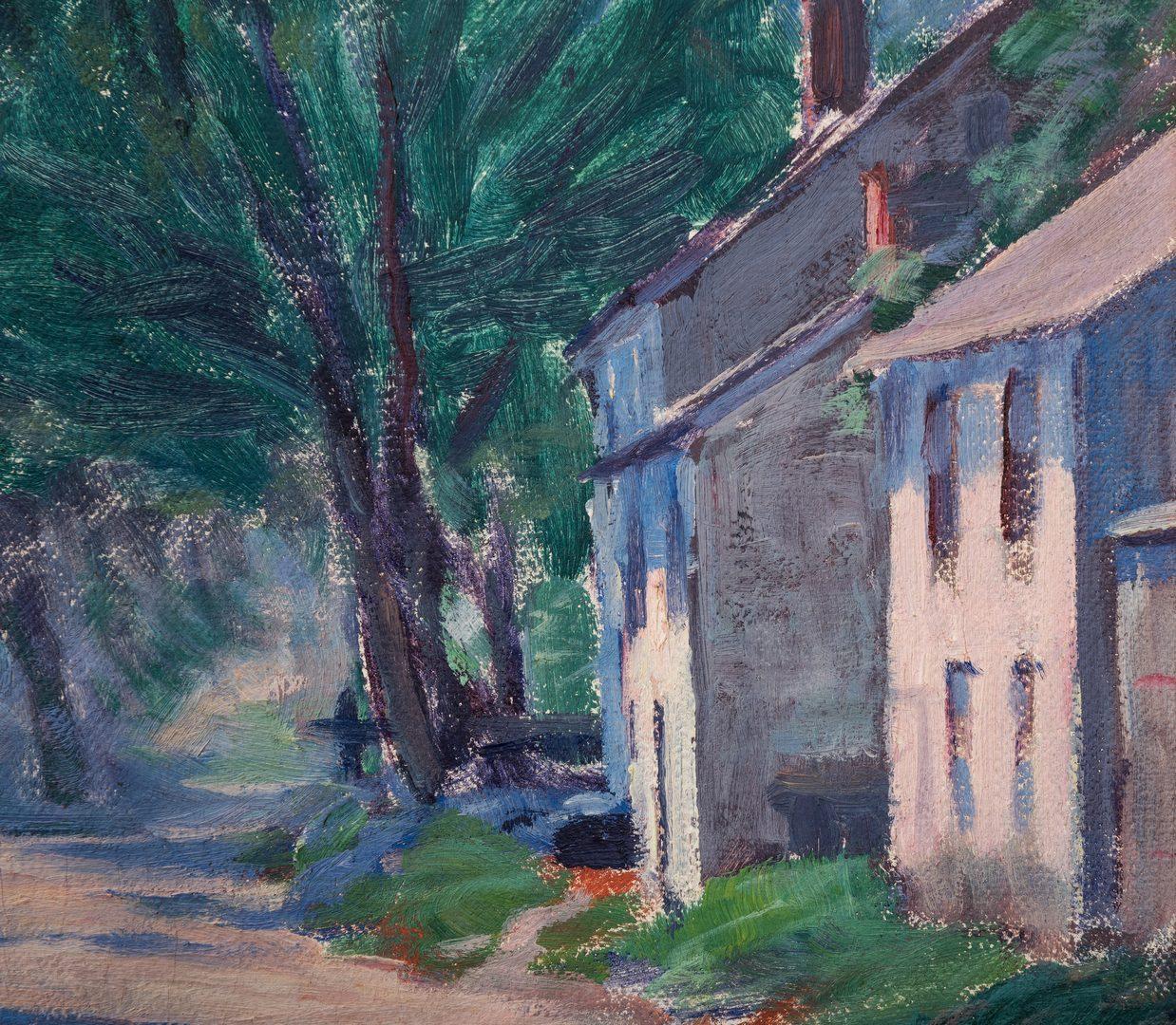 Lot 128: Clifford Ashley, O/C, Village Street Scene