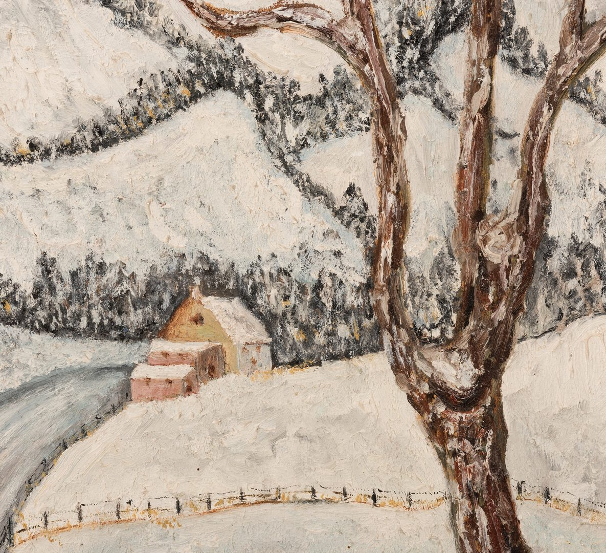 Lot 129: Walter Emerson Baum O/B Winter Scene