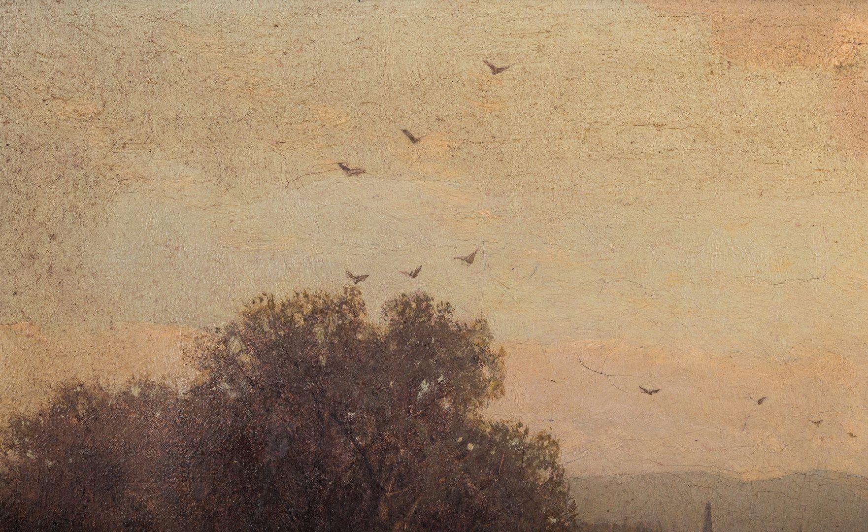 Lot 130: George H. Smillie, O/C, Hudson River Style Landscape