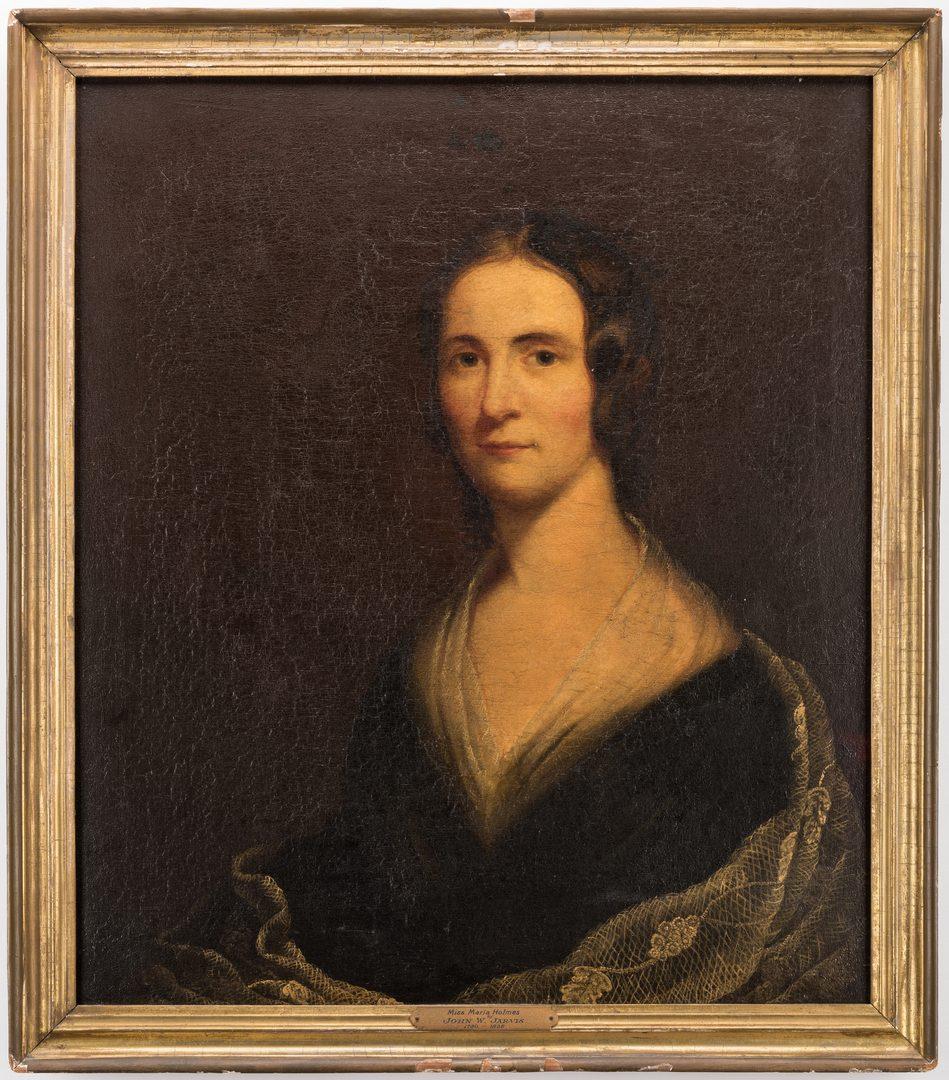 Lot 133: Attr. J. W. Jarvis, Portrait of Maria Holmes