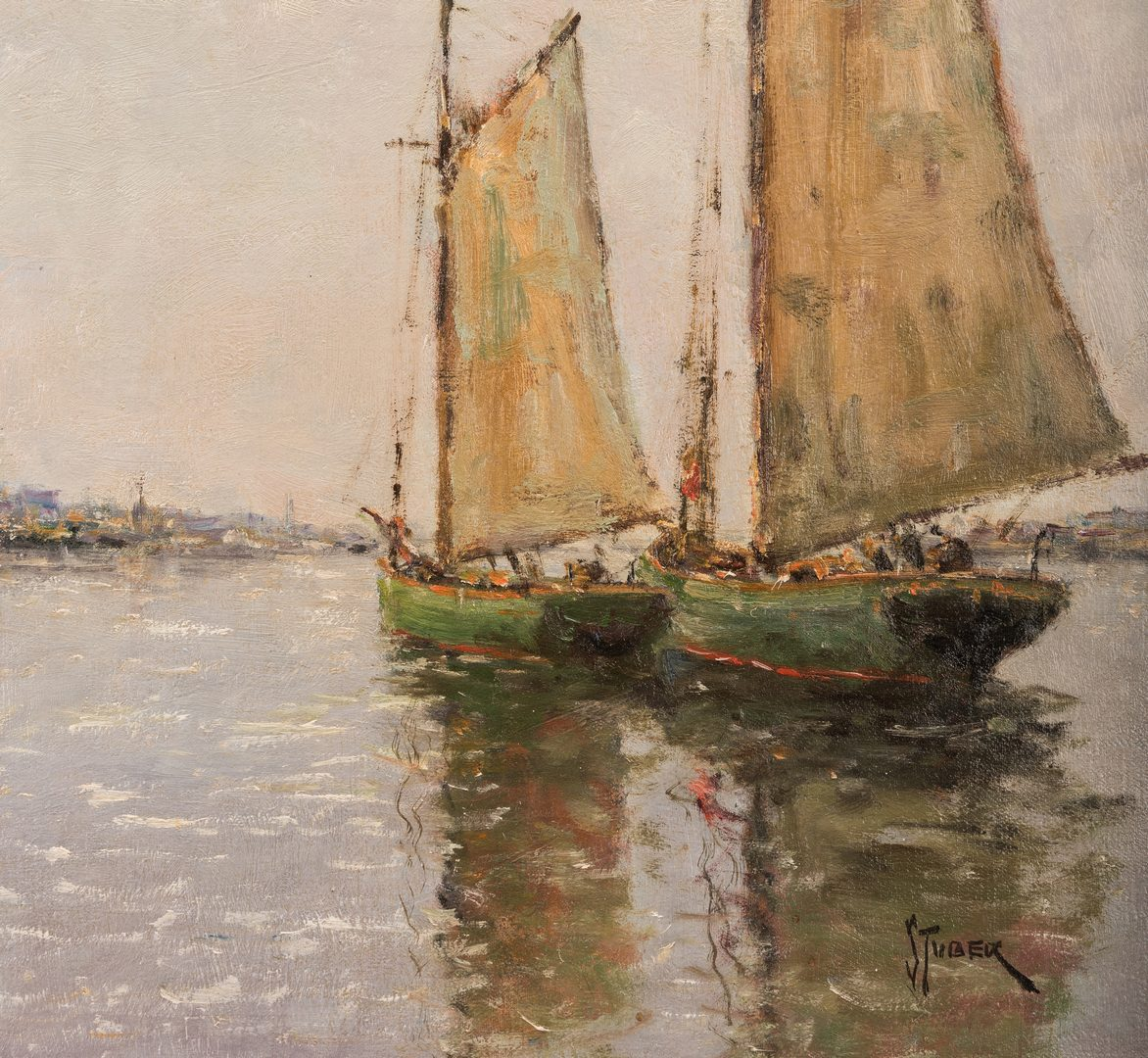 Lot 134: Dedrick Stuber, O/C, Marine Scene