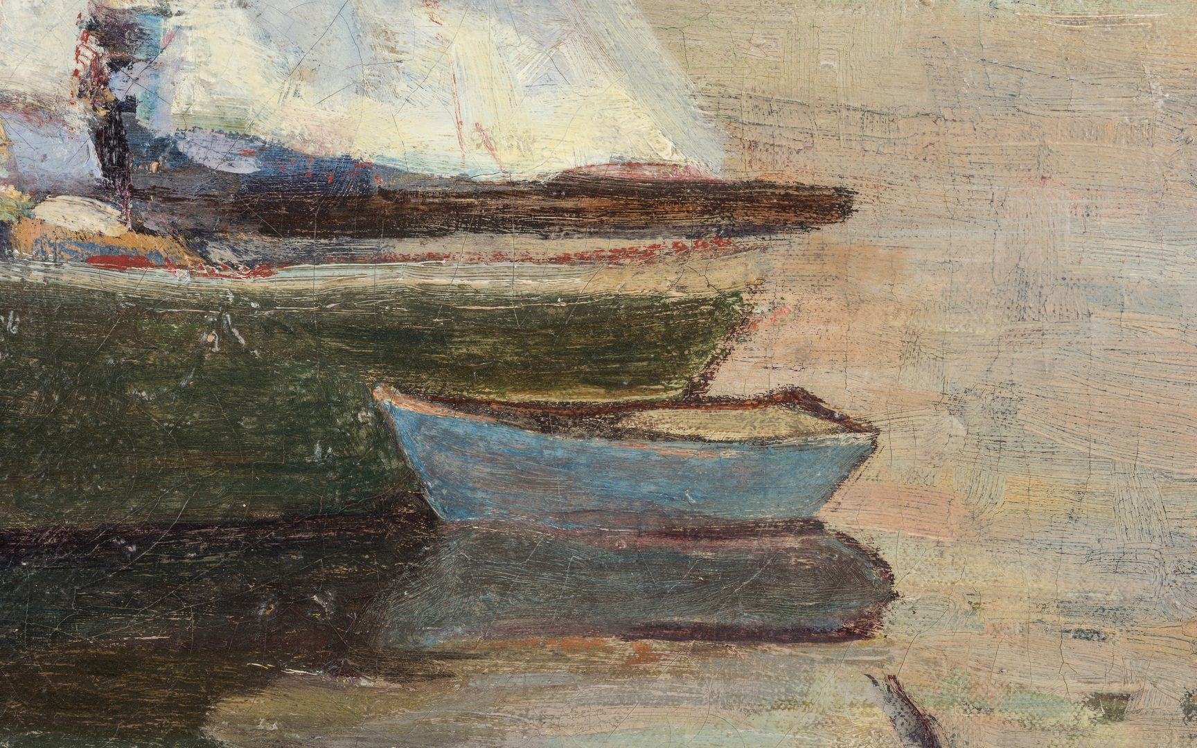 Lot 135: Cecil Fern Gary, O/C, Sailboat