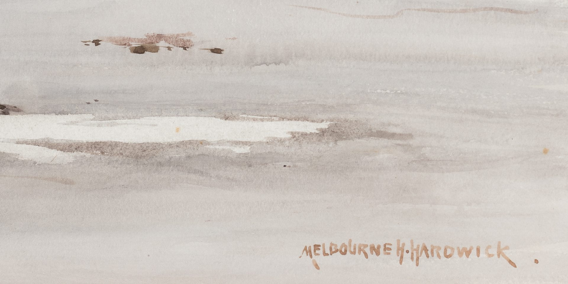 Lot 136: Melbourne H. Hardwick Marine Watercolor